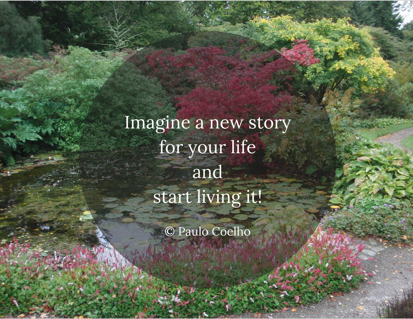 Imagine a new story for your live and start living it!